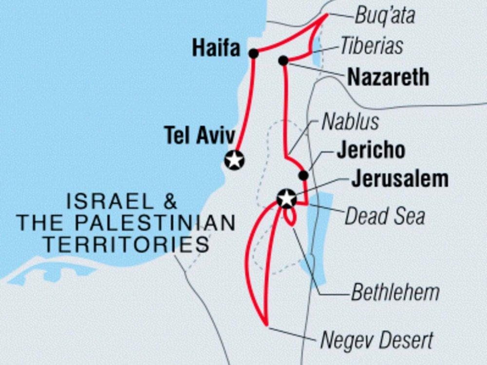 122Y60414 Israel & das Palästinenser Gebiet kulinarisch entdecken Karte
