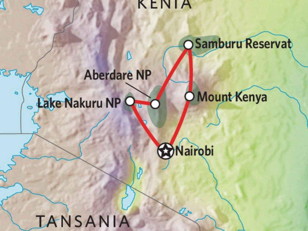 176Y10009 Kenia Lodge Safari IX Karte