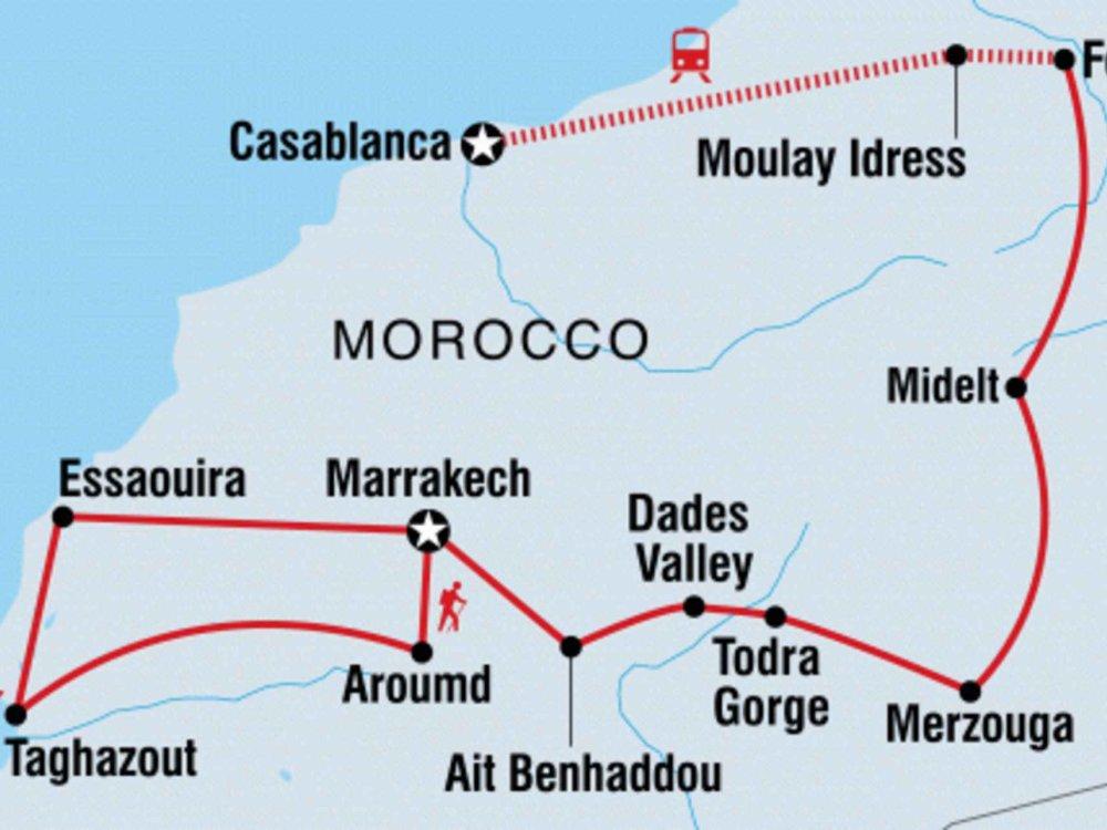 131Y21128 Magisches Marokko intensiv Karte