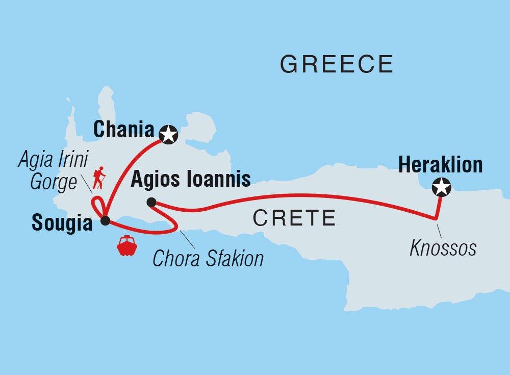 Kreta Kultur Natur Karte