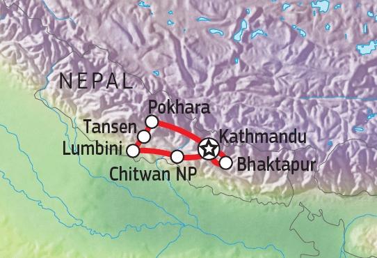 161Y21050 Glanzlichter Nepals Karte