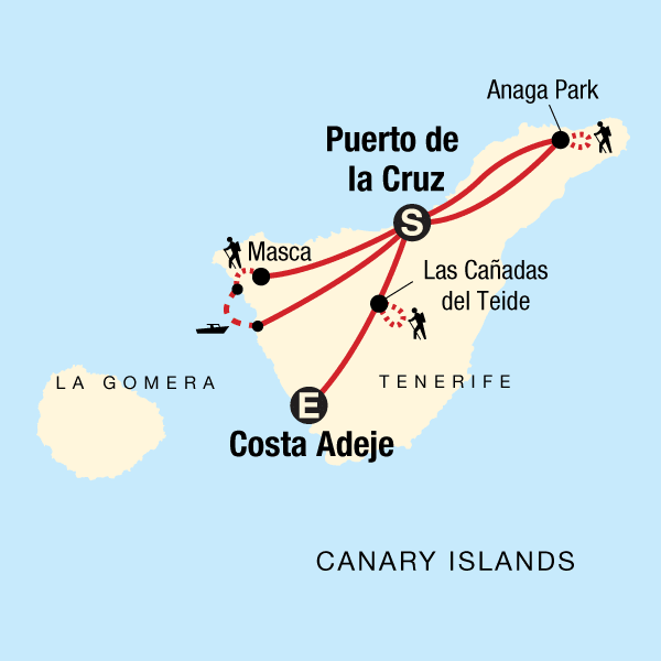 Teneriffa Wandern Karte