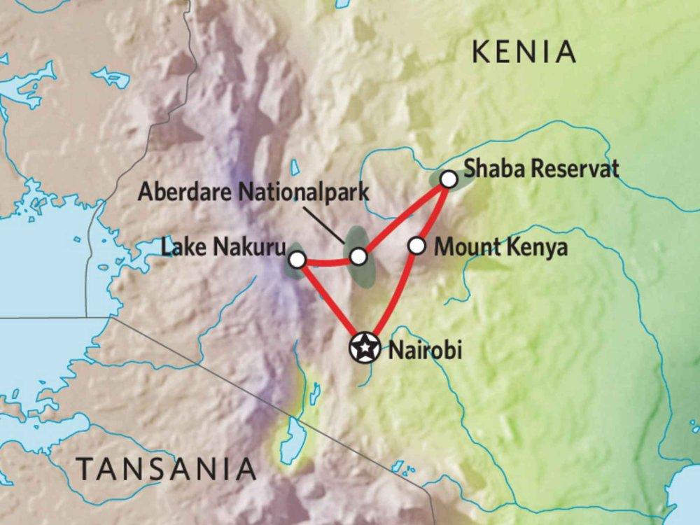 173Y10009 Kenia Camping Safari IX Karte