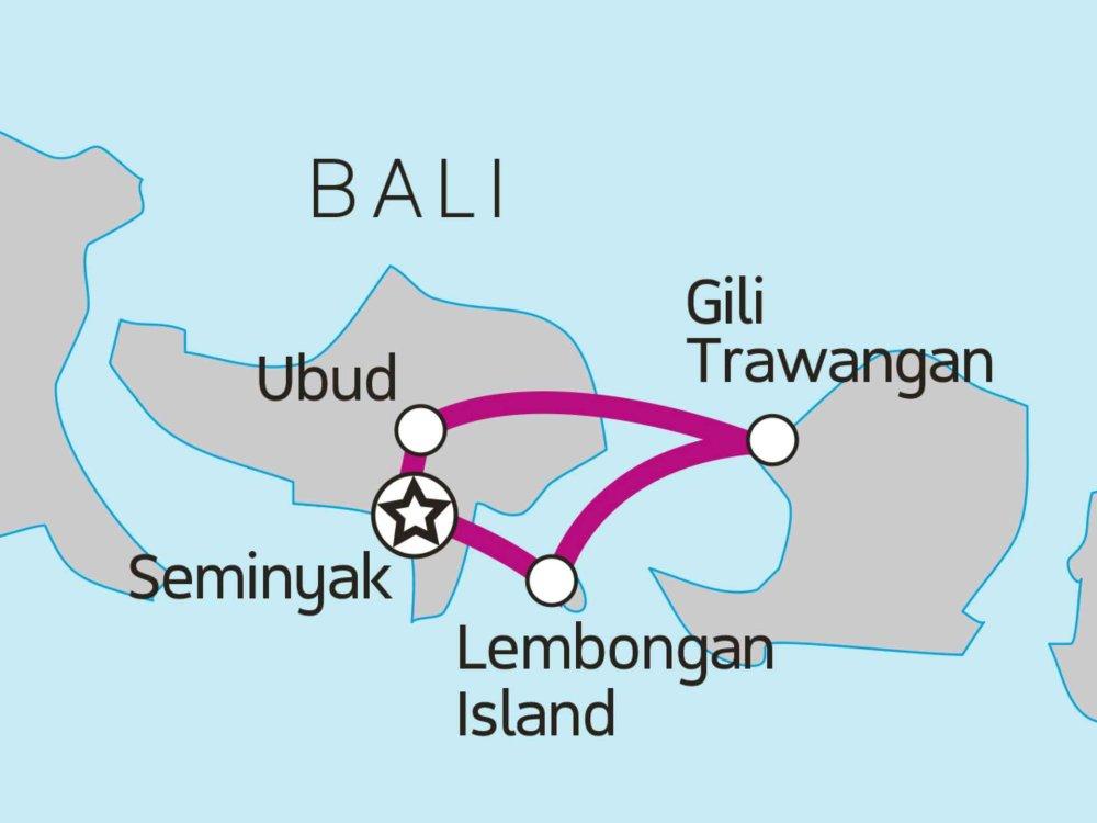 117Y15007 Bali Island Hopper Karte