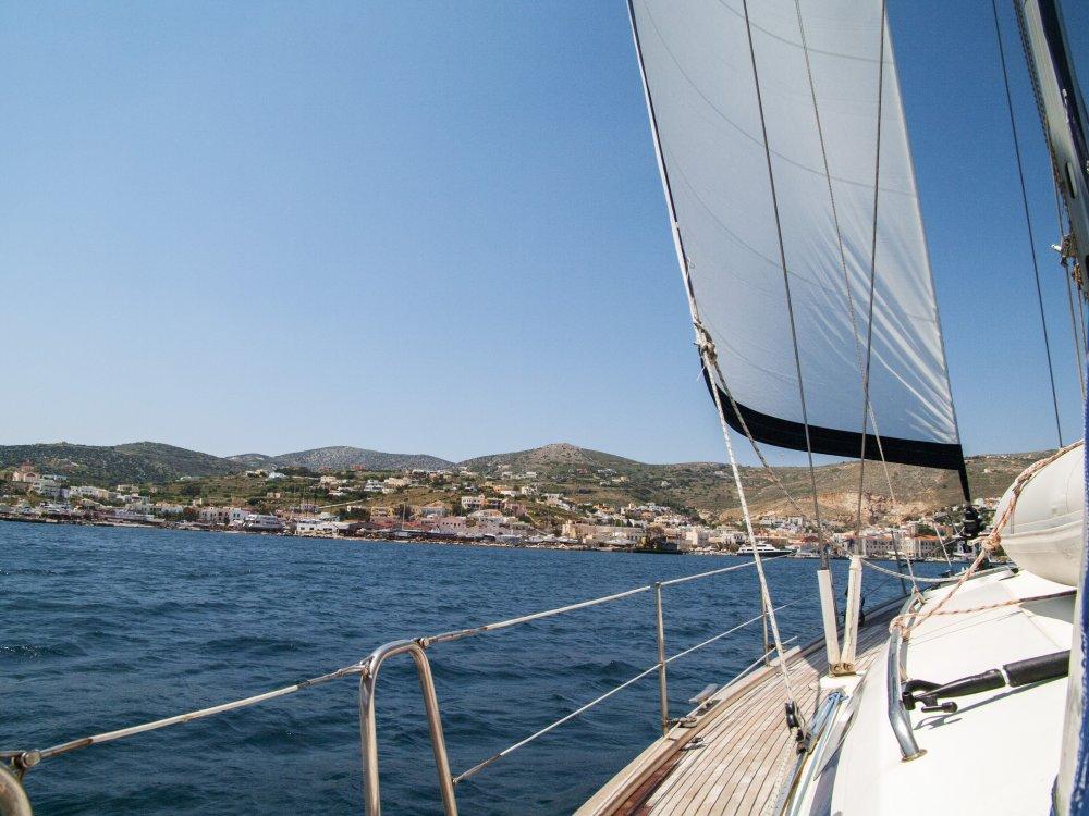 Griechenland an Deck vom Segelboot