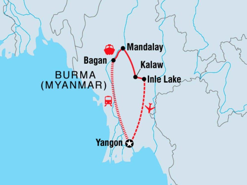122Y60401 Myanmar erleben Karte