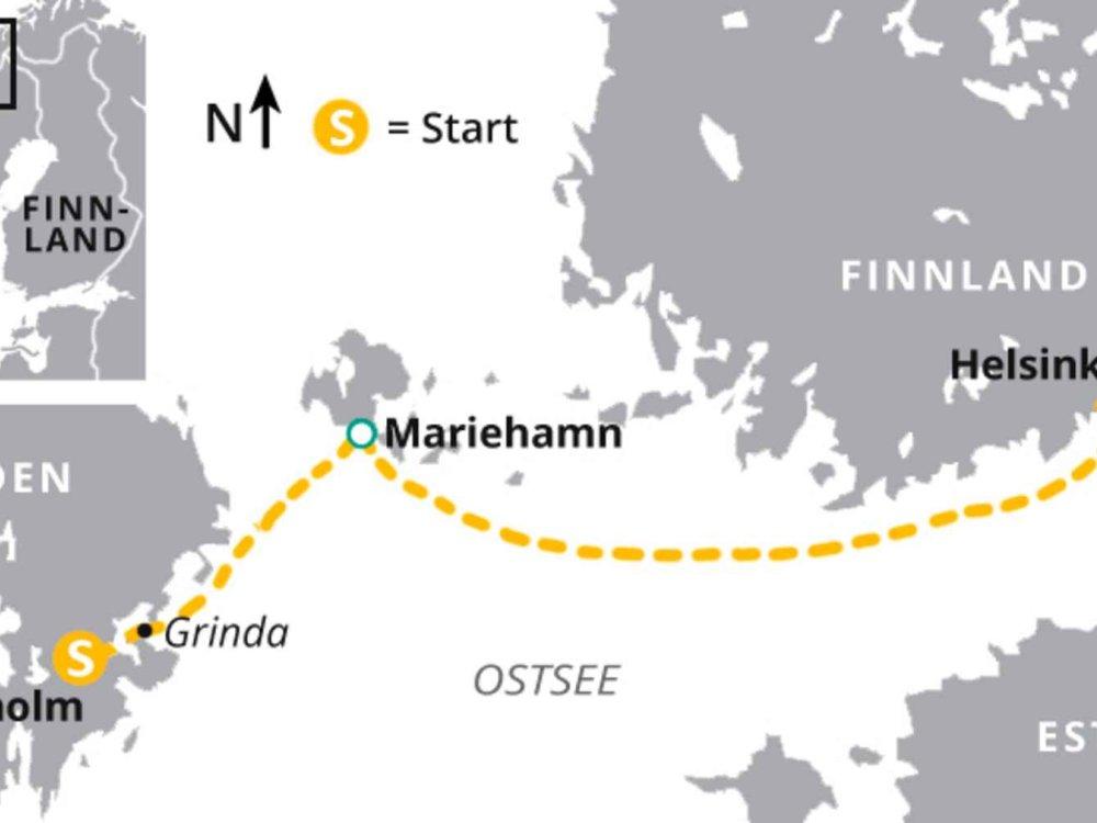 123H10032 Åland Inseln – Wandern durch den Schärengarten der Ostsee Karte