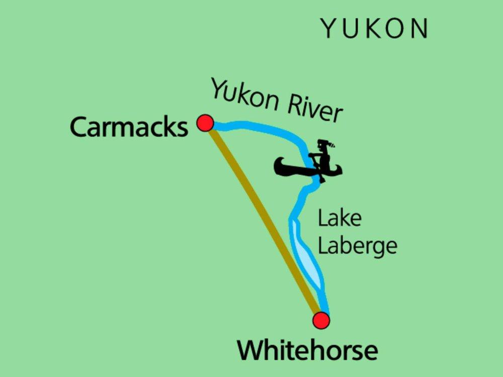 187Y31002 Yukon River - Kanutour bis Carmacks Karte