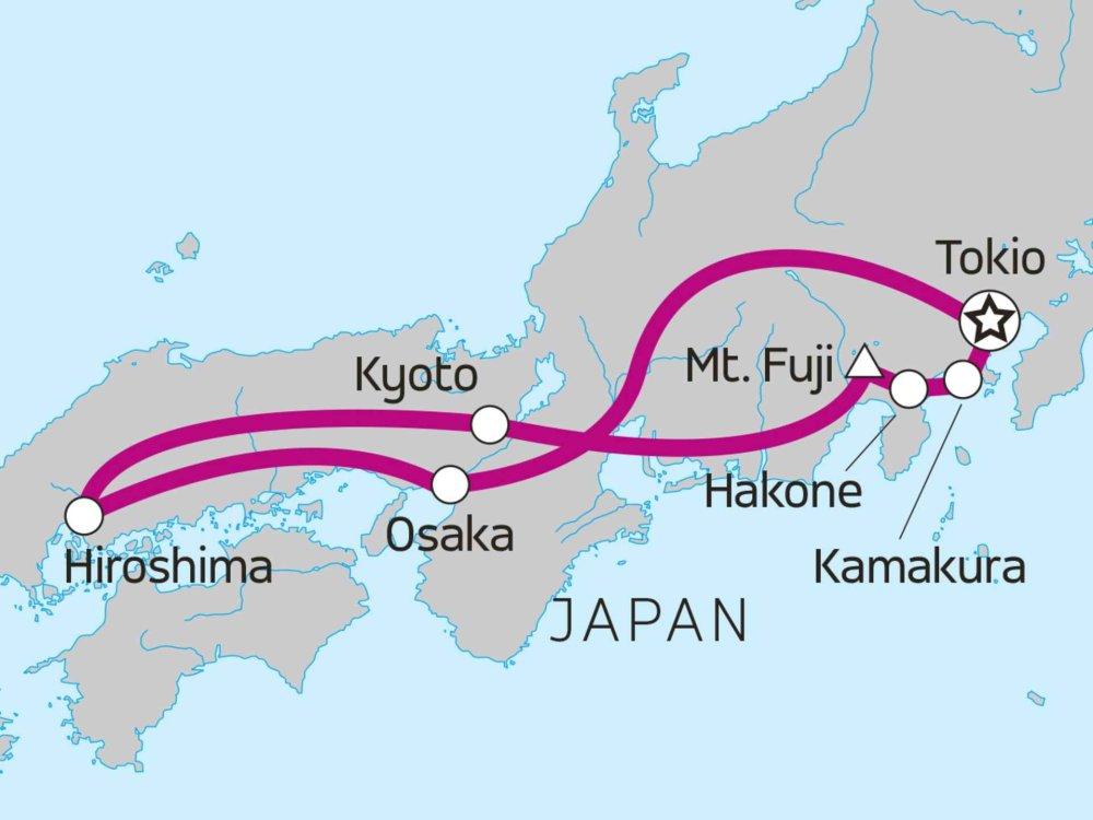 Japan Reise Karte