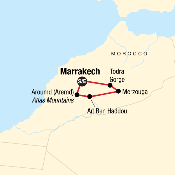 Marokko Desert Adventure Karte