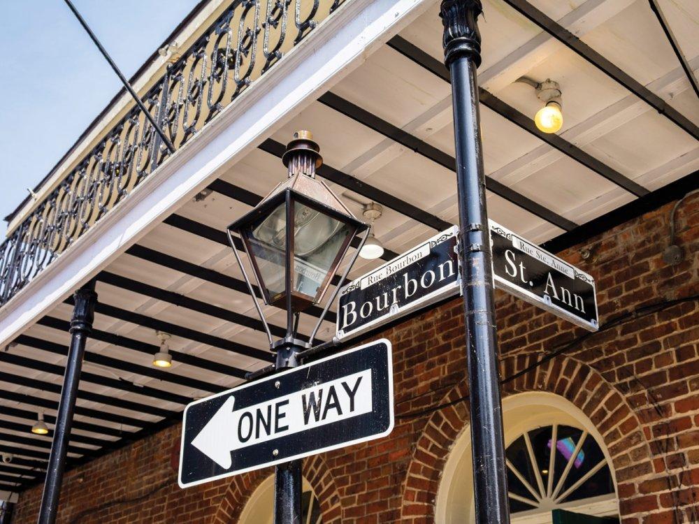 Straßenschild in New Orleans