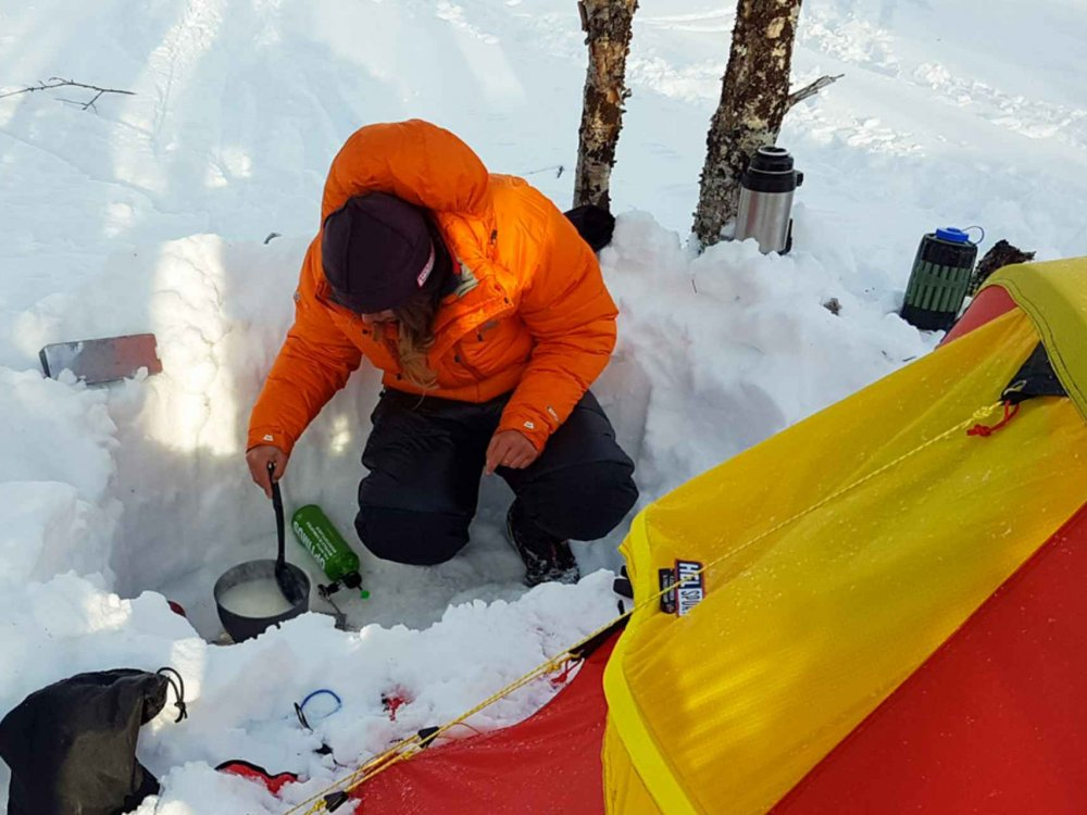 145A10019 Winterliches Outdoor-Abenteuer in Schweden für junge Leute Karte