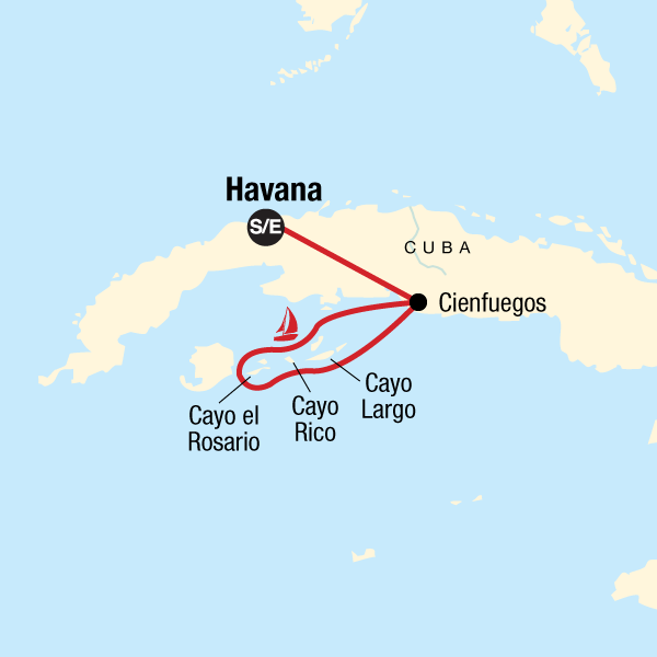 Kuba Segeltörn Karte