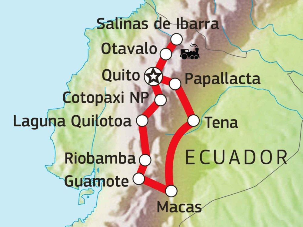 198Y31035 Die Vielfalt Ecuadors Karte