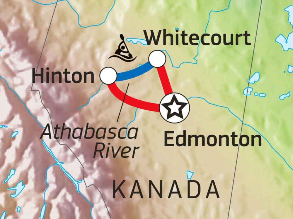 160A10007 Kanu Abenteuer Rocky Mountains Karte