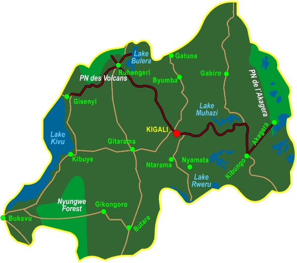 196Y00004 Abenteuer Ruanda: Auf den Spuren der Gorillas Karte