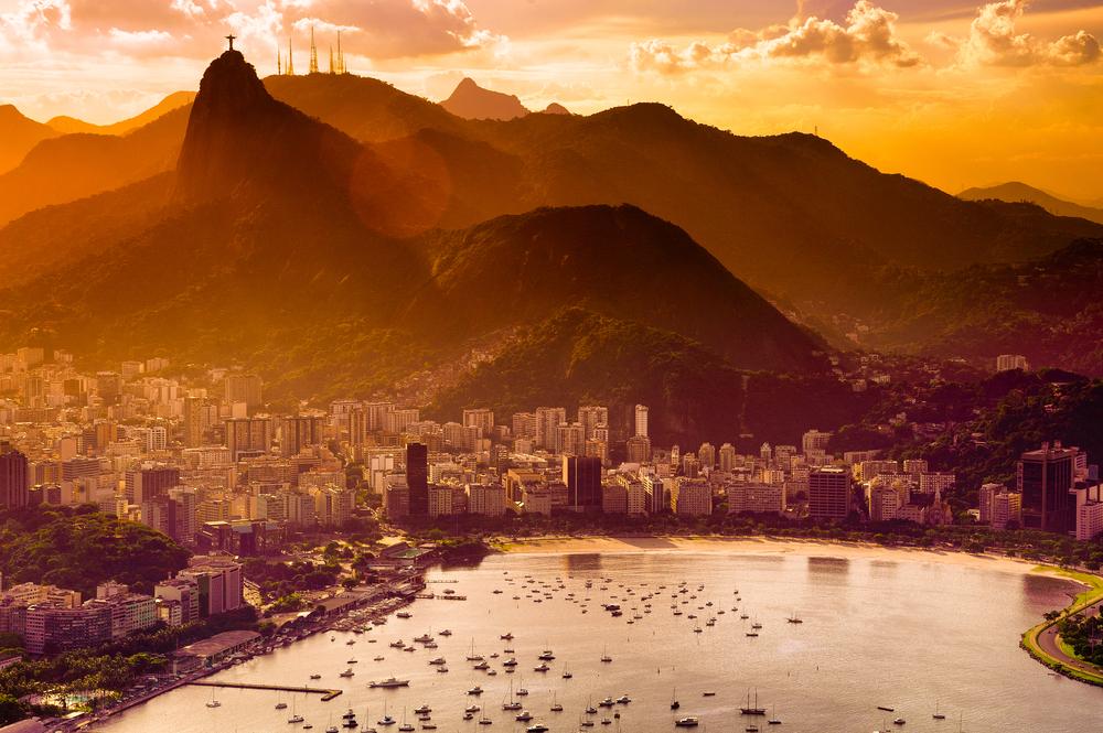 Dämmerung in Rio De Janeiro