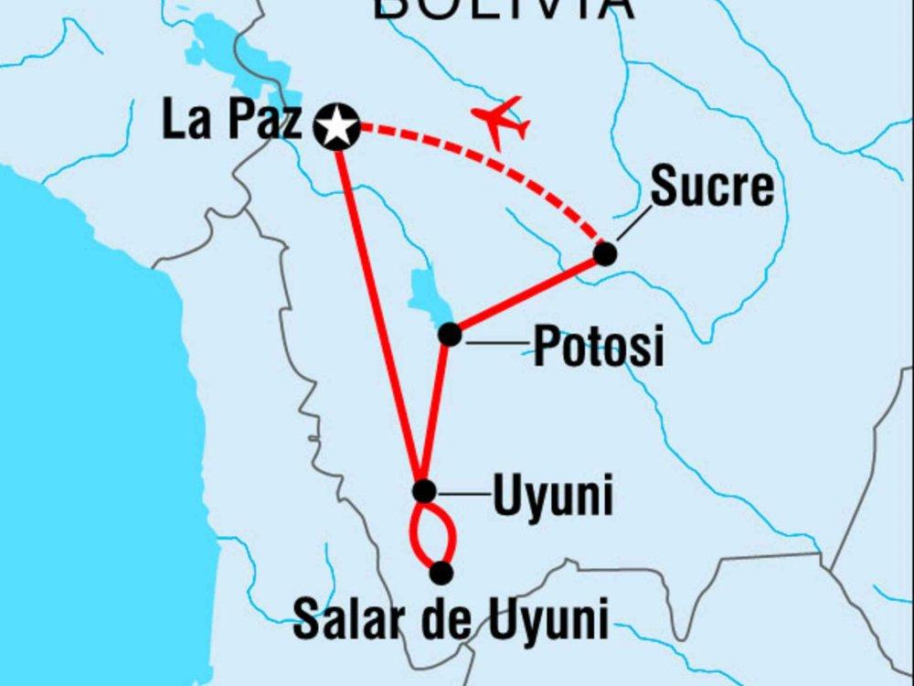 122Y60260 Highlights von Bolivien Karte