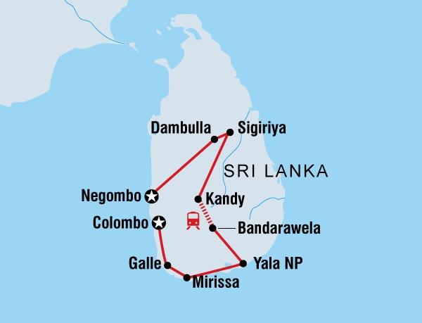 122Y60413 Sri Lanka kulinarisch entdecken Karte