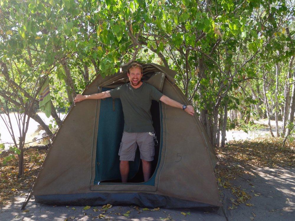 Camping auf einer Afrika Overland Tour