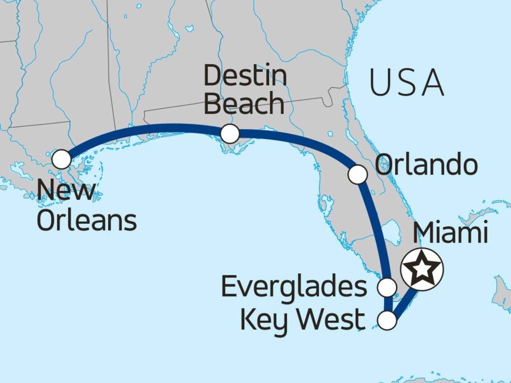 139Y10090 Florida Christmas Adventure Karte