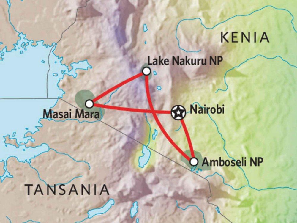 176Y10005 Kenia Lodge Safari V Karte