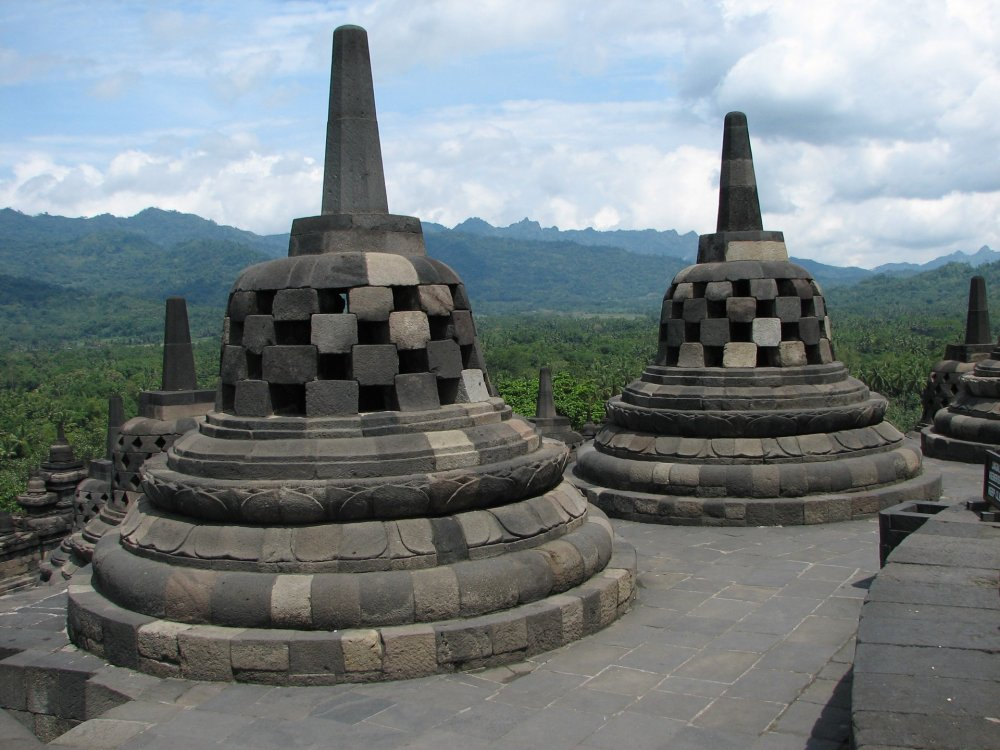 Stupa am Borobudur