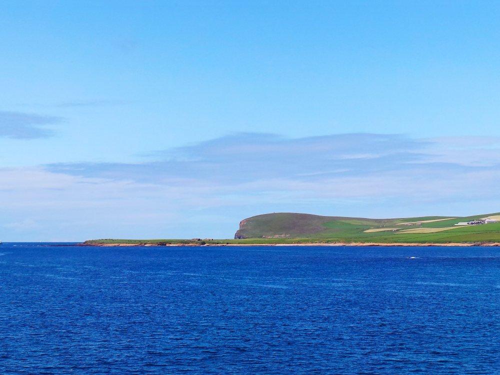 Fährt zur Insel Orkney
