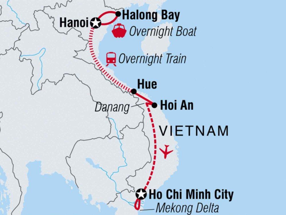 122A10050 Entlang der Küste von Vietnam Karte