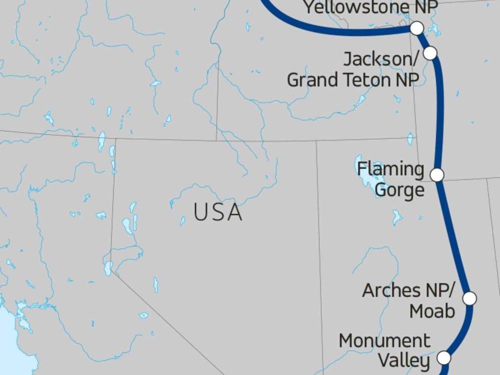139Y10015 Rocky Mountain Trail Karte