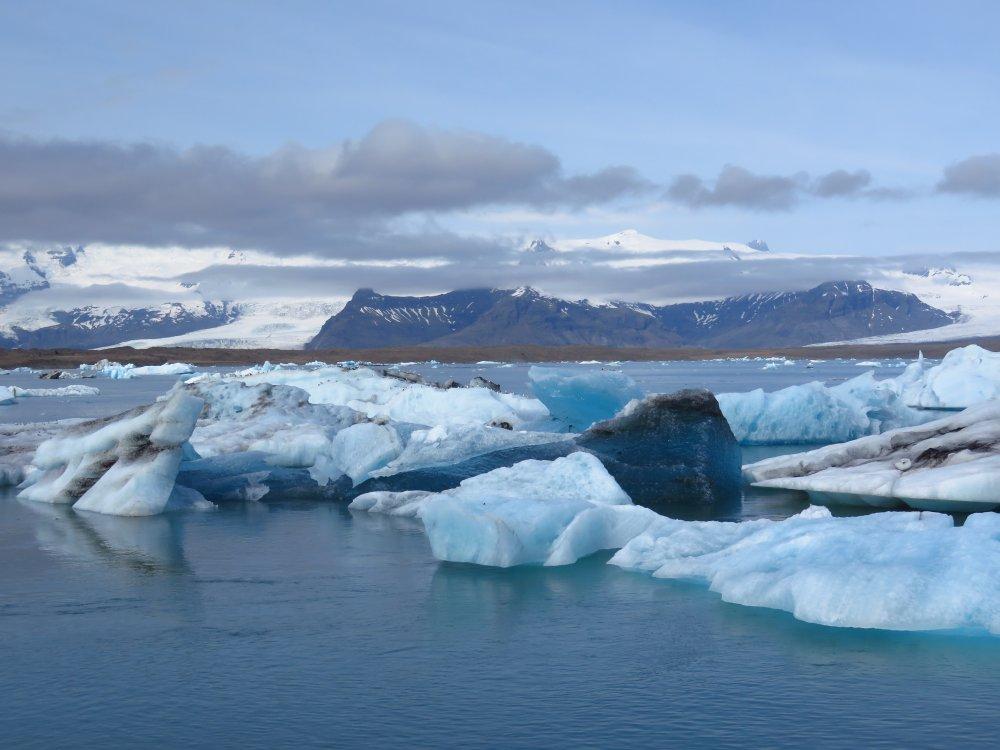 Gletscher und Eisberge in Island