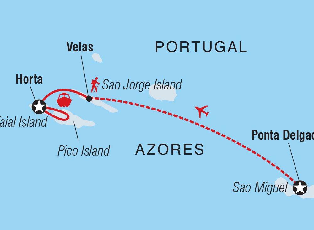 Azoren erleben Karte