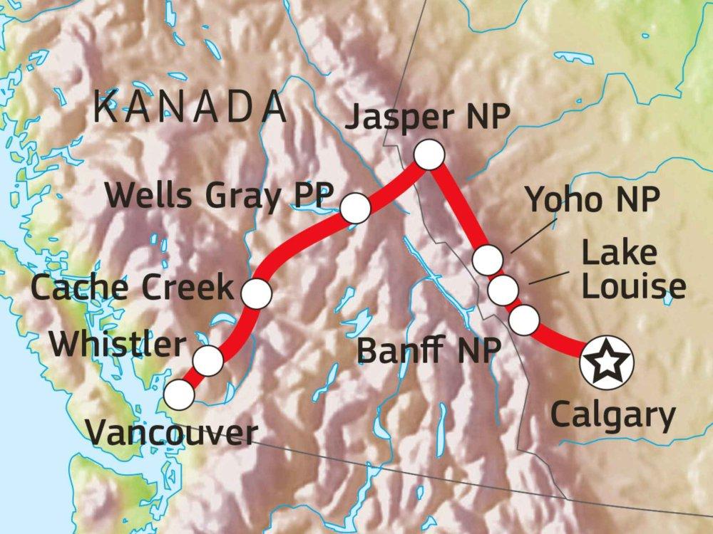160A10010 Rocky Mountains aktiv erleben Karte