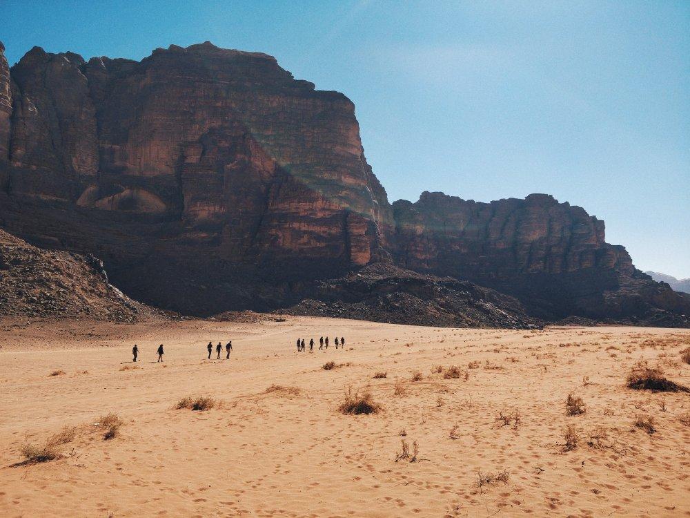 Wandern im Wadi Rum