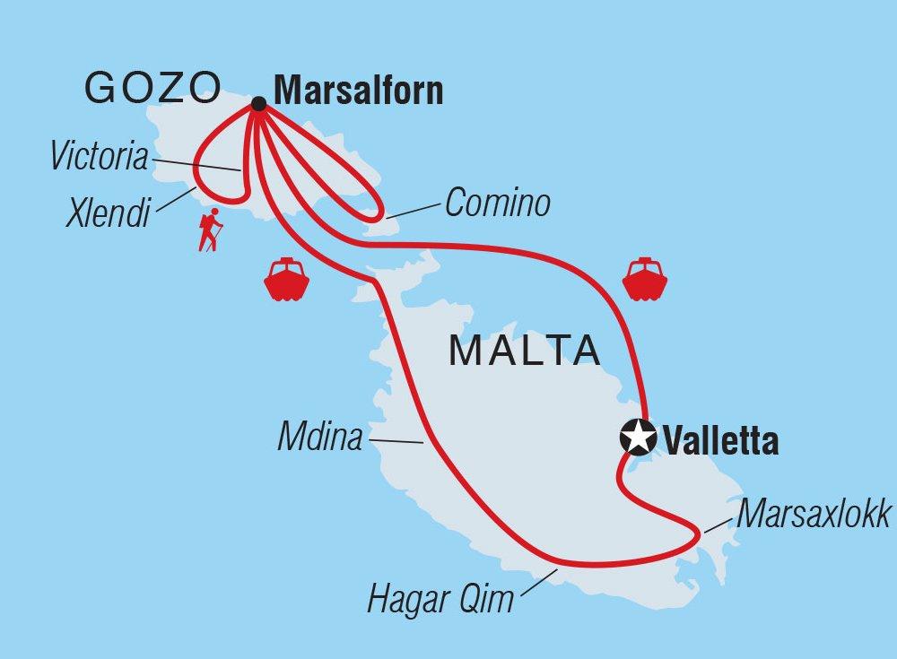 Malta Gozo Karte