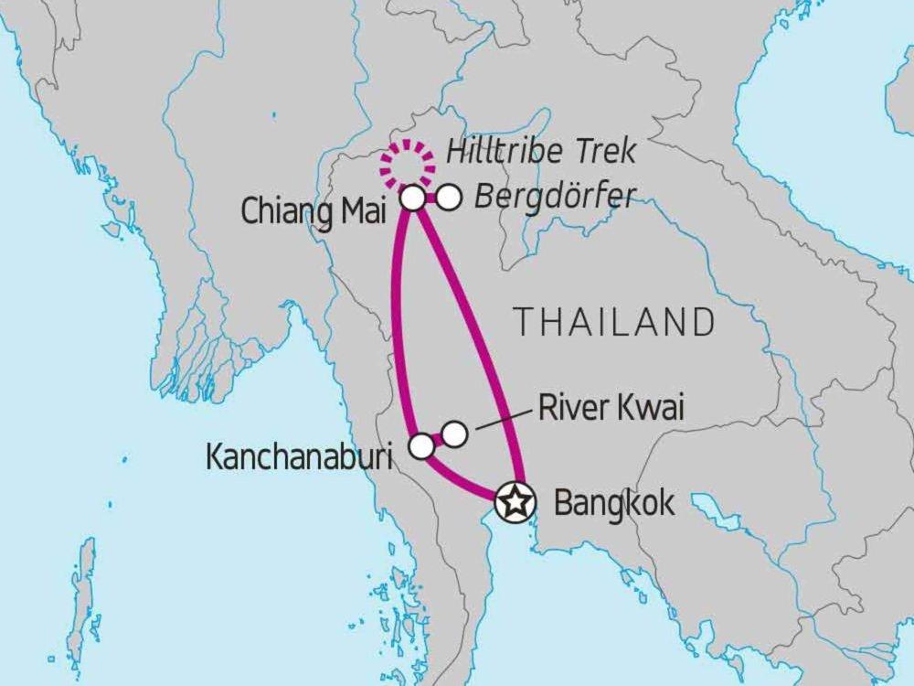 122Y60154 Thailand Aktivreise Karte