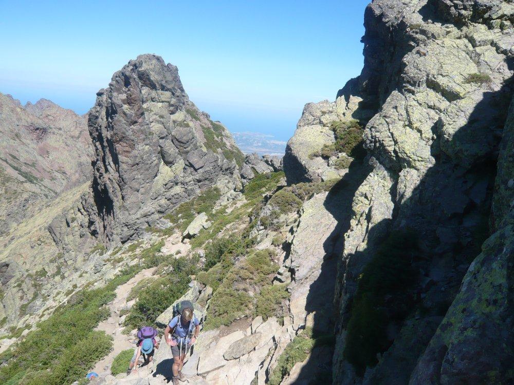 Korsika - Nord -  - Steile Besteigung