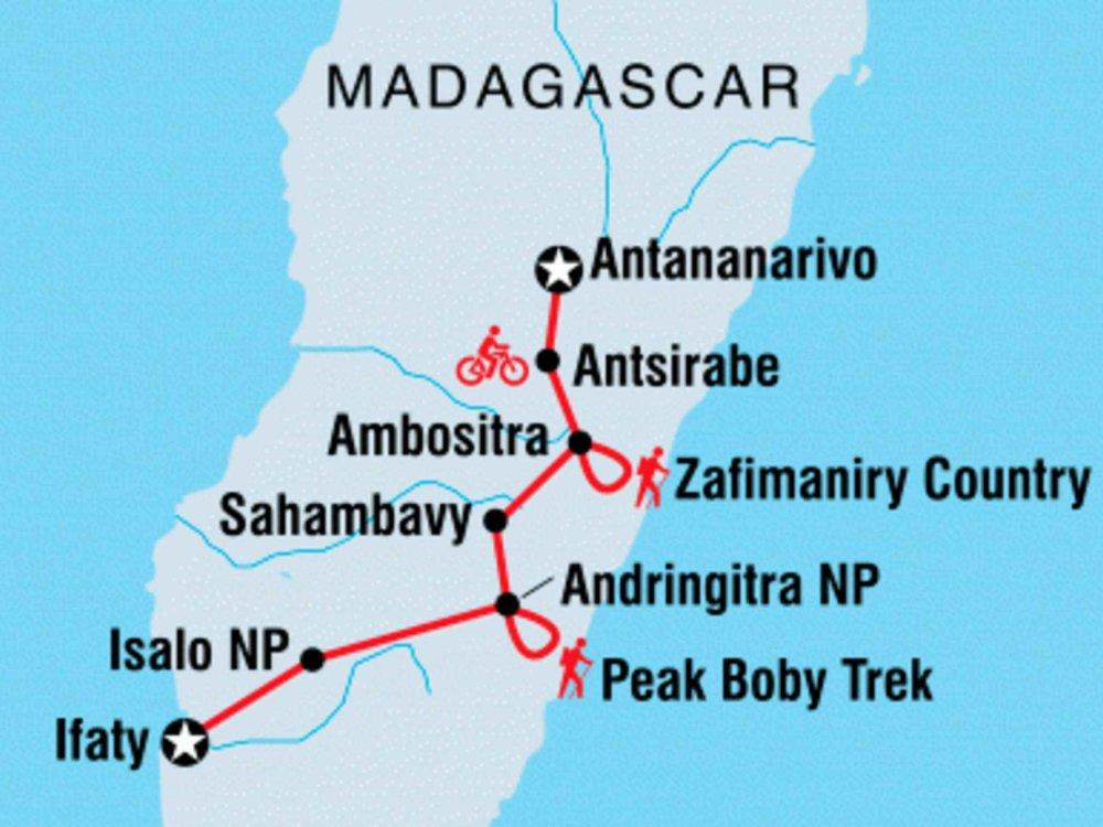 122Y40218 Aktivreise Madagaskar Karte