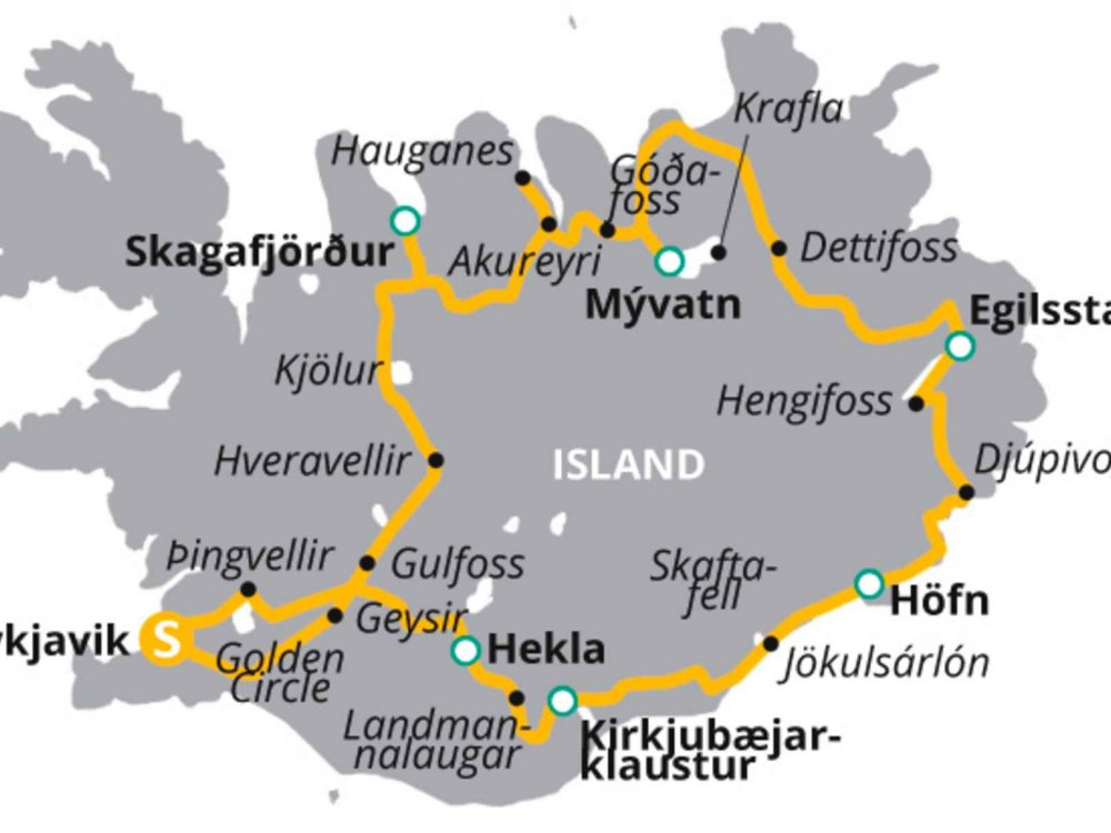 123H10035 Island aktiv erleben Karte