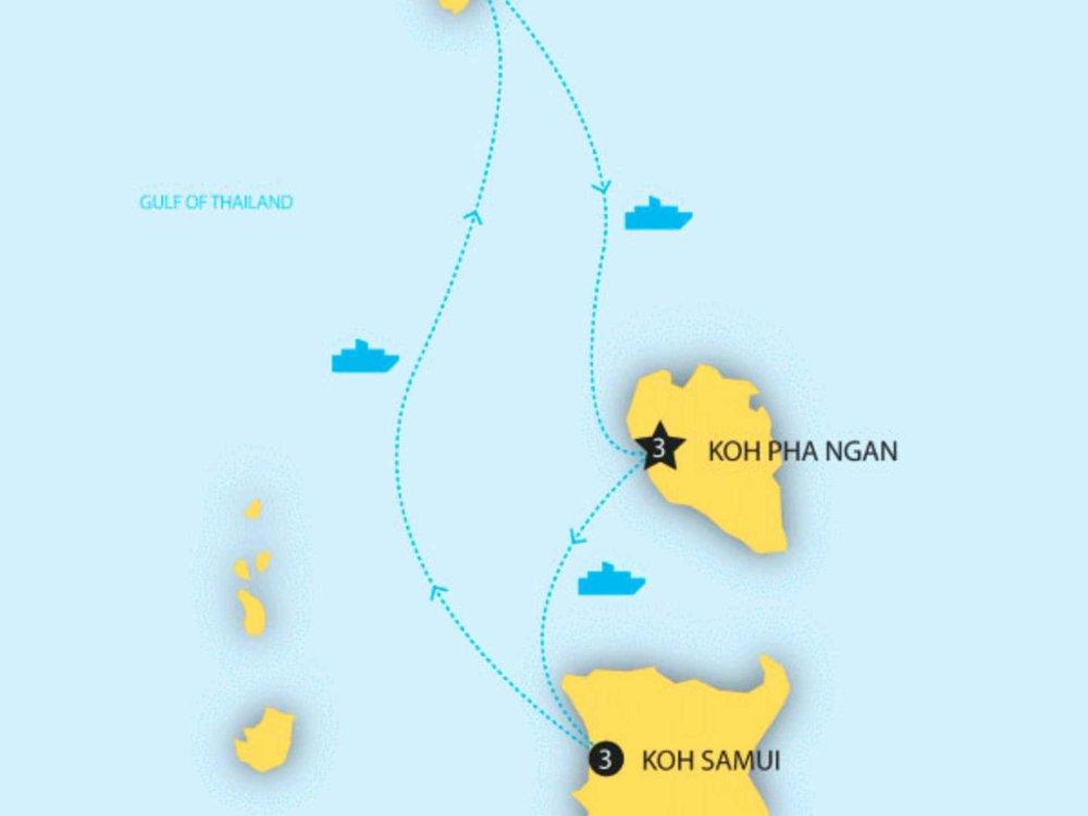 174Y20011 Thailands Inseln - Ko Samui, Ko Tao & Ko Phangan Karte