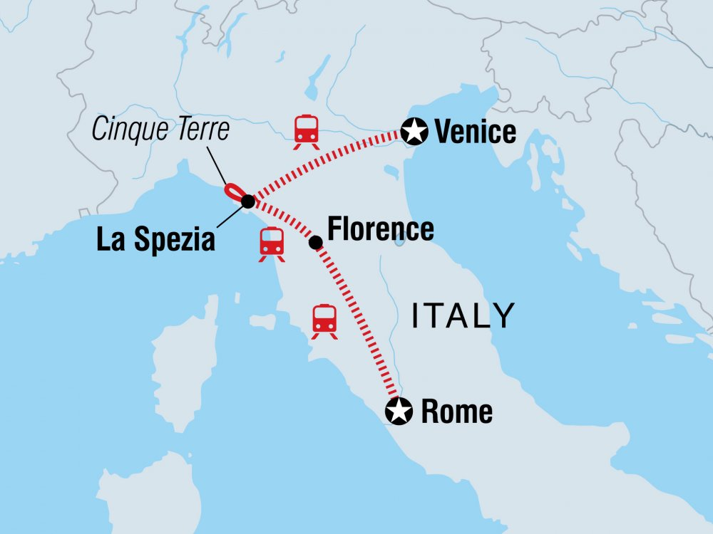 Venedig Florenz Rom Karte