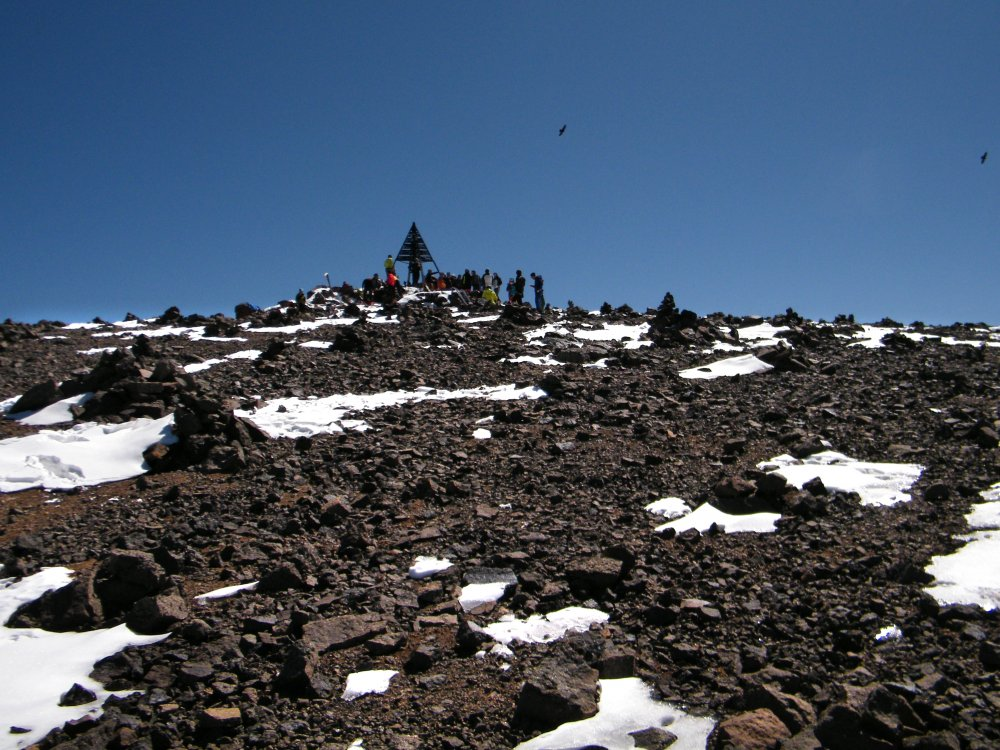 Kurz vor dem Gipfel - Mount Toubkal Besteigung