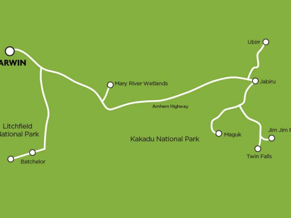 102A10060 Top End Safari im Geländewagen Karte