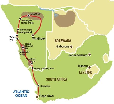 138G20003 Erlebnis Namibia Karte