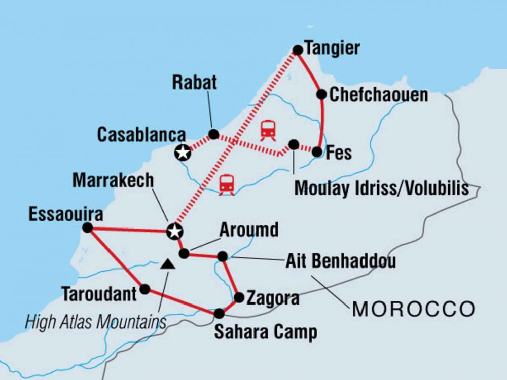 122Y60067 Unentdecktes Marokko Karte