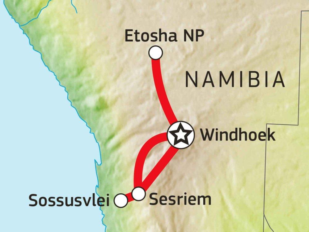106Y21003 Farben von Namibia Karte