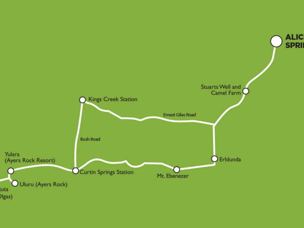 102A10049 Goanna Dreaming - Campingsafari Rotes Zentrum Karte