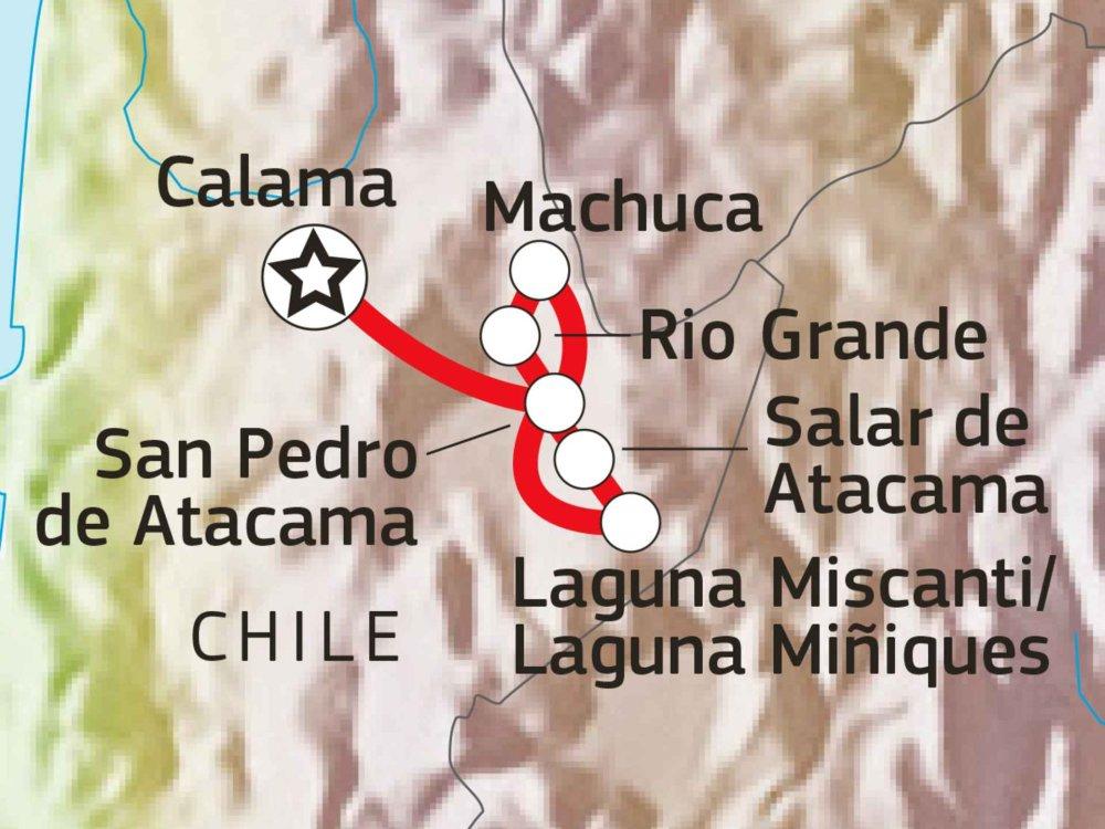 186Y41004 Atacama Wüsten-Trekking Karte
