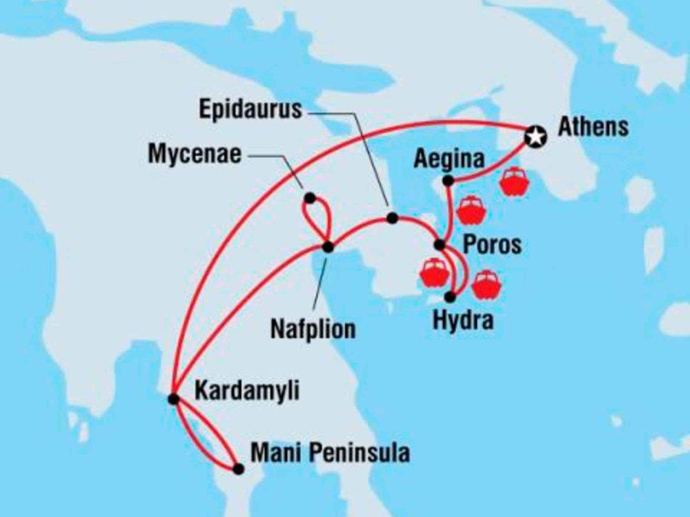 122Y40252 Griechenland kulinarisch entdecken Karte