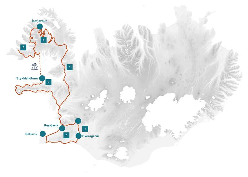 Halbinsel Snaefellsnes Westfjorde Karte